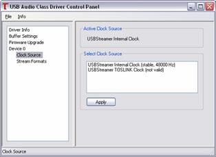 USBStreamer Boxドライバーソフト画面-2