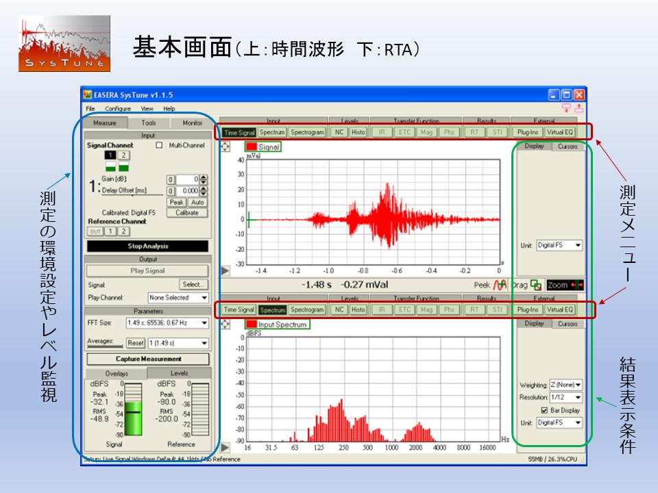 SysTune Pro基本画面紹介画像